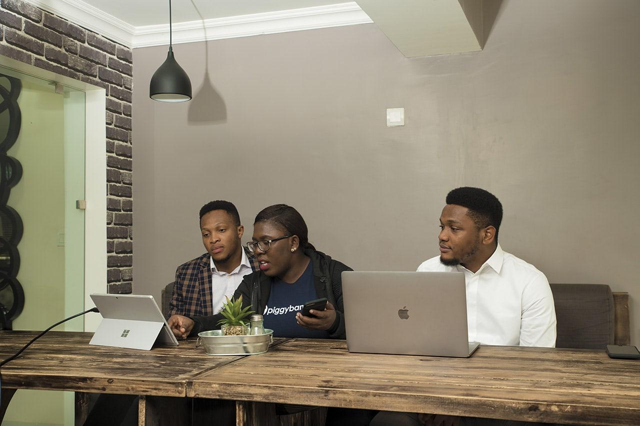 Somto Ifezue, Odunayo Eweniyi and Joshua Chibueze [l-r] PiggybankNG Co-founders (1)